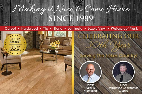 Making it nice to come home since 1989 - Seland's Abbey Flooring Center in Fergus Falls