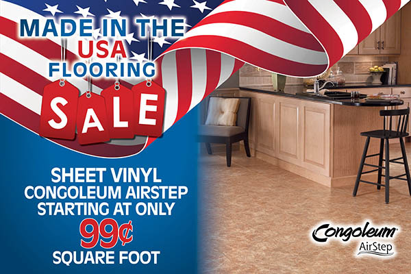 Congoleum Airstep sheet vinyl starting at only 99¢ sq.ft.