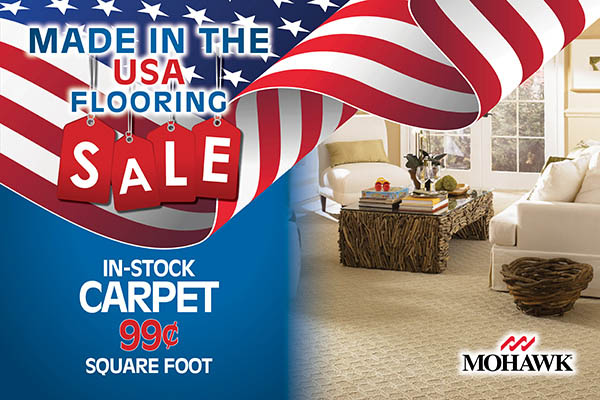 In-stock Mohawk carpet 99¢ sq/ft/