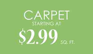 Carpet starting at $2.99