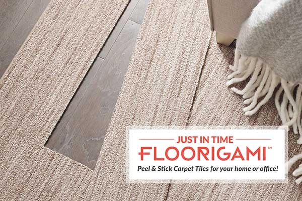 JUST IN TIME! FLOORIGAMI™ Peel & Stick Carpet Tiles for your home or office!