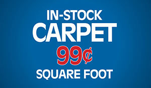In-stock carpet only $0.99 square foot during our Made in the USA Flooring Sale